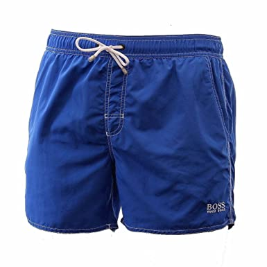 a6d0c123c01ce Hugo Boss BOSS Men's Lobster 5 Inch Solid Swim Trunk, Blue, XX-Large