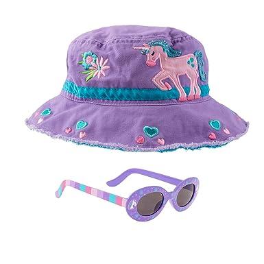 0baefc7c406 Amazon.com  Stephen Joseph Girls Unicorn Bucket Hat and Sunglasses ...