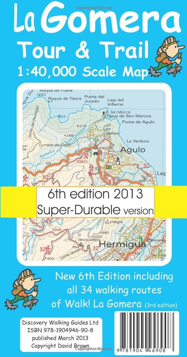 La Gomera Tour Trail Superdurable Map Amazoncouk David Brawn