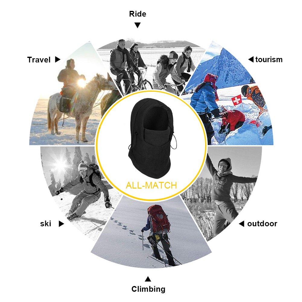 Richoose copertura antivento Maschera Cappellini invernali fronte caldo di copertura dello scaldino del collo cappello del pattino esterno di inverno sci Mask Headcover