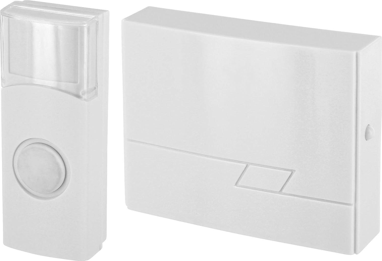 Sonnette de porte sans fil IP44 Portée 50 m – 16 mélodies – Émetteur étanche IP44 HAVA