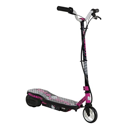 Amazon Com Hello Kitty Electric Scooter Black Pink White Sports