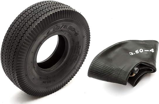 Neumático y Cámara Interior 4.10 / 3.50-4 Mini Bicicleta BMX Negro ...