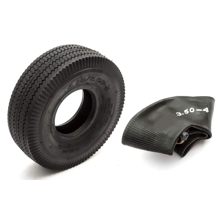 Pneu et chambre /à air 4.10//3.50-4 Mini BMX Bike Noir Bloc de roulement 4 plis