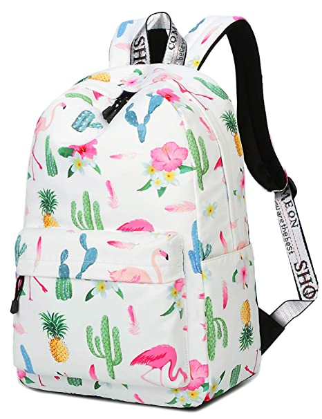515f7b219b9f Image Unavailable. Image not available for. Color  VOLINER Cute Pineapple Flamingo  Backpack Water Resistant Laptop Backpack Bookbags School Bags Travel ...