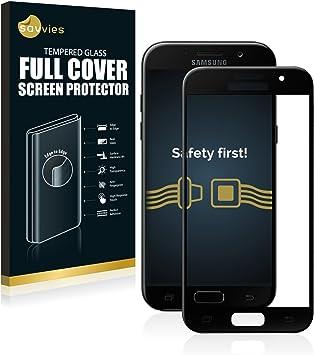 savvies Cristal Templado Completo Compatible con Samsung Galaxy A5 ...