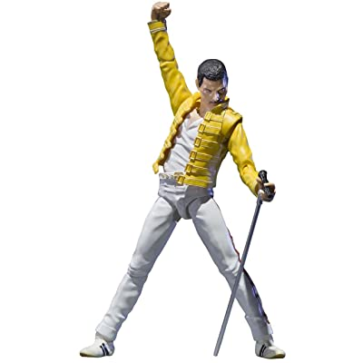"Bandai Tamashii Nations Freddie Mercury ""Singing Artist"" Action Figure: Toys & Games"