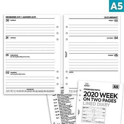 NBplanner® 2020 - Agenda de dos páginas con forro, para ...