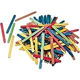 Folia 2292–Bâtonnets en bois Multicolore Lot de 500114x 10x 2mm