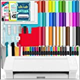 Silhouette White Cameo 4 Starter Bundle with 38 Oracal Vinyl Sheets, T-Shirt Vinyl, Transfer Paper, Class, Guides and 24…
