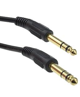 Pro Signal Av136951m Prise Jack 6,35mm vers 6,35mm Jack Plug câble stéréo–Doré
