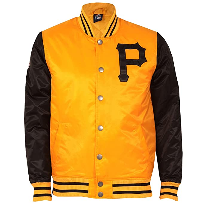 Majestic: chaqueta de raso Branton de Pittsburgh Pirates ...