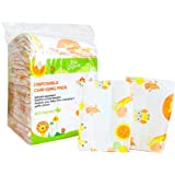30 Large Disposable Changing Pads Mats Sanitary Baby Infant Toddler Diaper Liners Covers for Travel Changing Station Tables. Soft and Waterproof. Protect Against Germs. Buy Now!