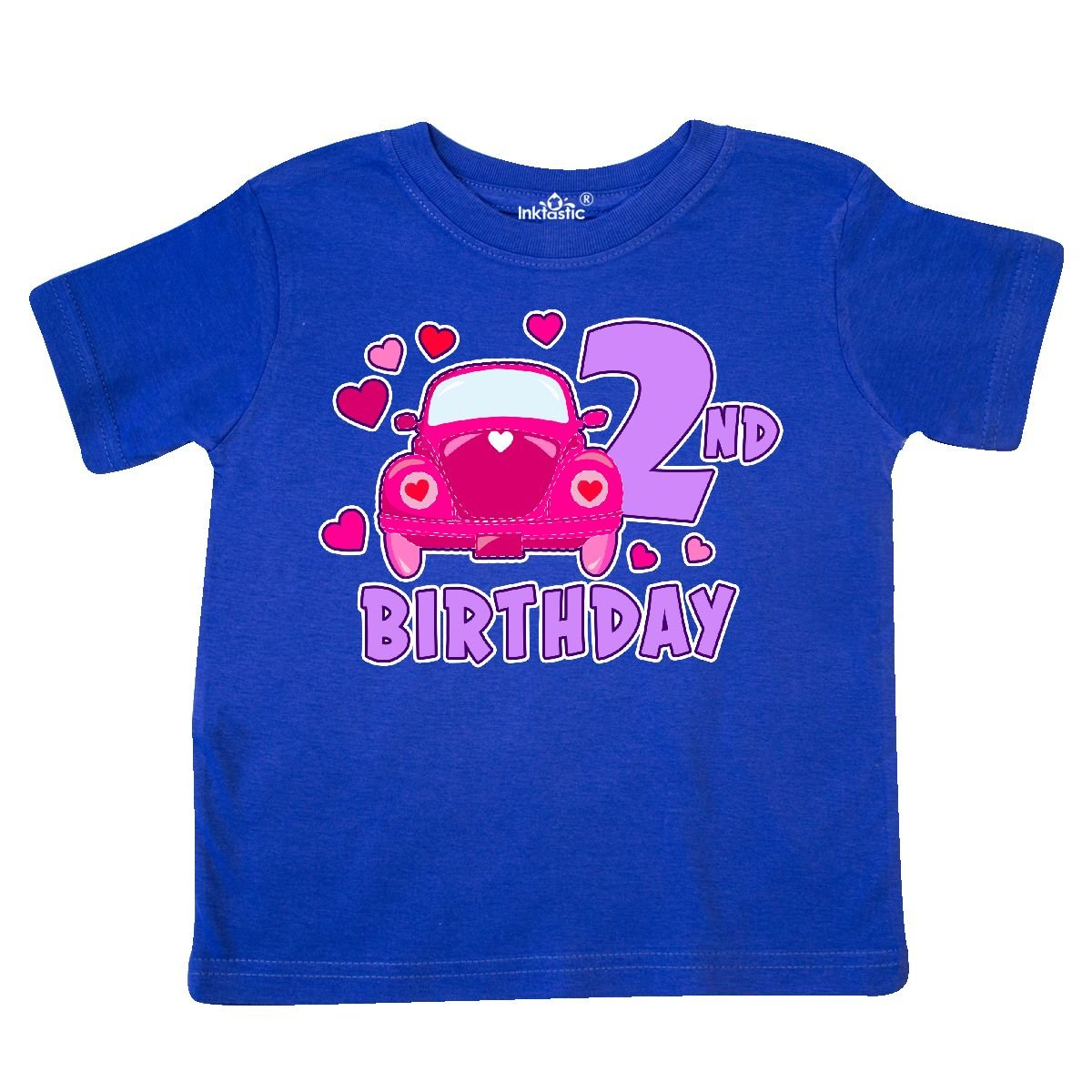inktastic Love Bug 2nd Birthday with Hearts Toddler T-Shirt