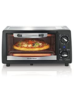 Hamilton Beach 31134 4 Slice Capacity Toaster Oven, Black, 1