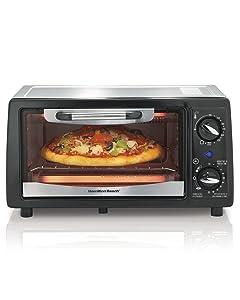 Hamilton Beach 31134 4 Slice Capacity Toaster Oven, Black, 1