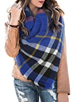 Womens Blanket Scarf Plaid Winter Fall Warm Tartan Shawls Wraps Chunky Classic Soft Scarfs
