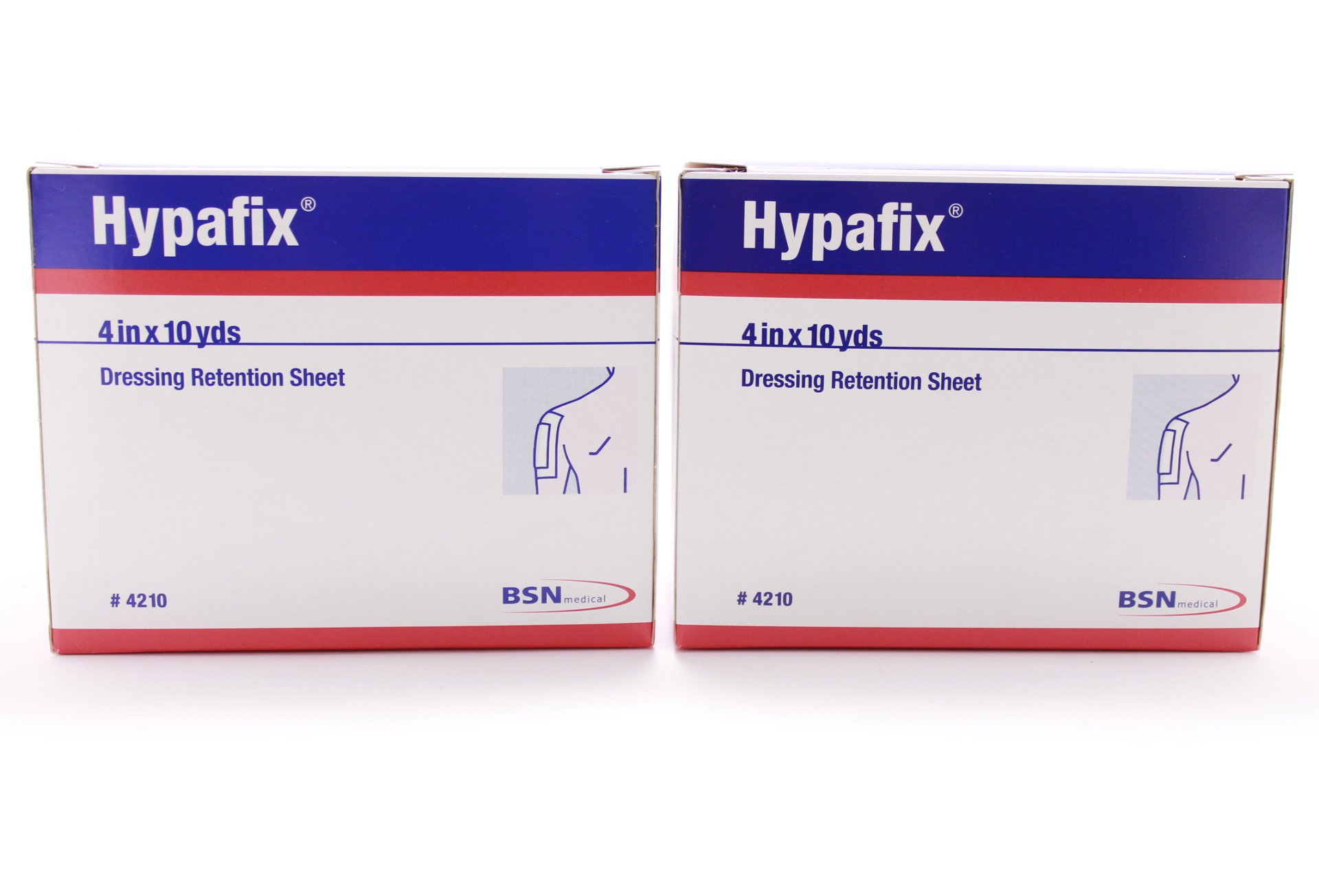 Hypafix Dressing Retention Sheet Roll 4'' x 10 Yards (Pack of 2 Rolls)