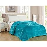 Soft Flannel Fleece Blanket Blue King Size 210 * 200 cm, SMT-02