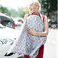 Gina Era Nursing Cover, Shower Gifts - Large Breastfeeding Cover - 360° Coverage,Chemical-Free, Breathable, Soft,Nipple…