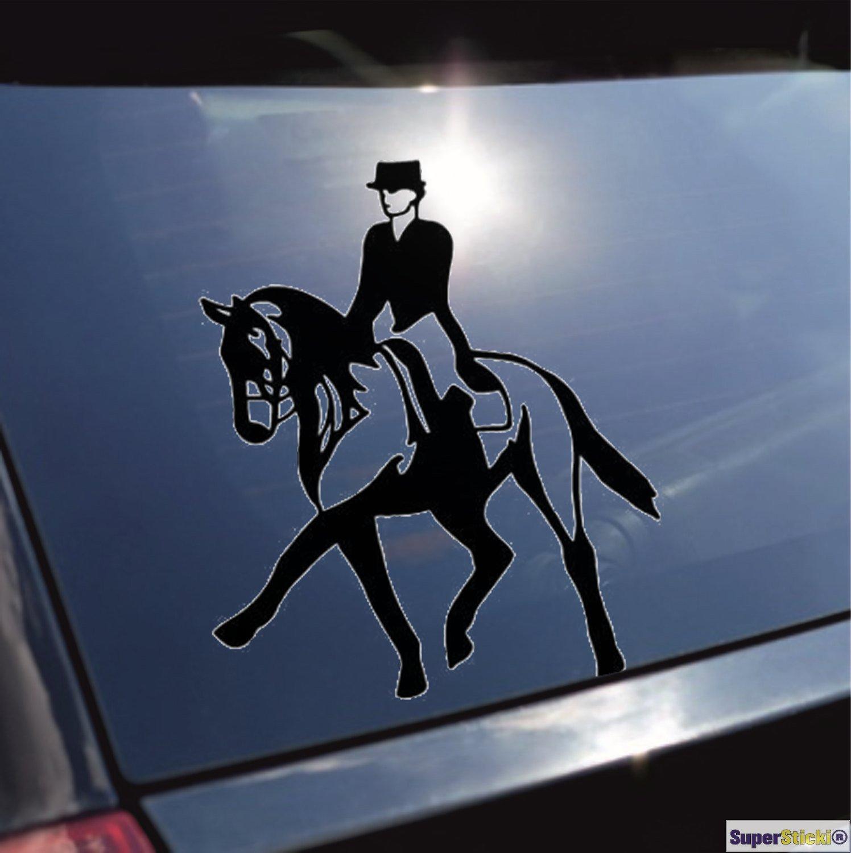 reiten Dressur Pferd Aufkleber ca 20 cm Autoaufkleber Tuningaufkleber von SUPERSTICKI/® aus Hochleistungsfolie f/ür alle glatten Fl/ächen UV und Waschanlagenfest Tuning Profi Qualit/ät Auto KFZ Scheibe Lack Profi-Qualit/ät Tuning