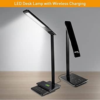 Jabees Q9 LED Desk Lamp With Qi Wireless Charger For IPhone X IPhone 8, With