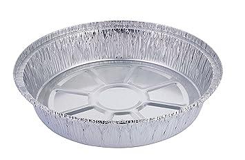 Bandeja de aluminio desechable de HBaker, para el congelador y el horno, para pizzas