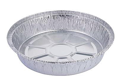Teglie Rotonde Per Pizza Alluminio.Hbaker Teglie Usa E Getta In Alluminio Per Congelatore E