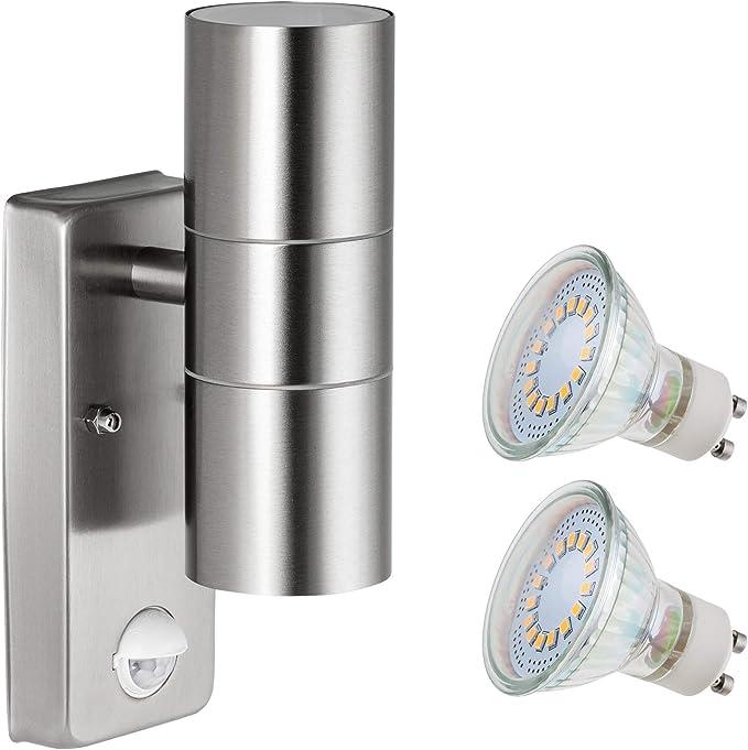 DEL extérieur-Mur-Luminaire cedros 1//2 brûleur blanc chaud 230 V ip44 Inox Brossé