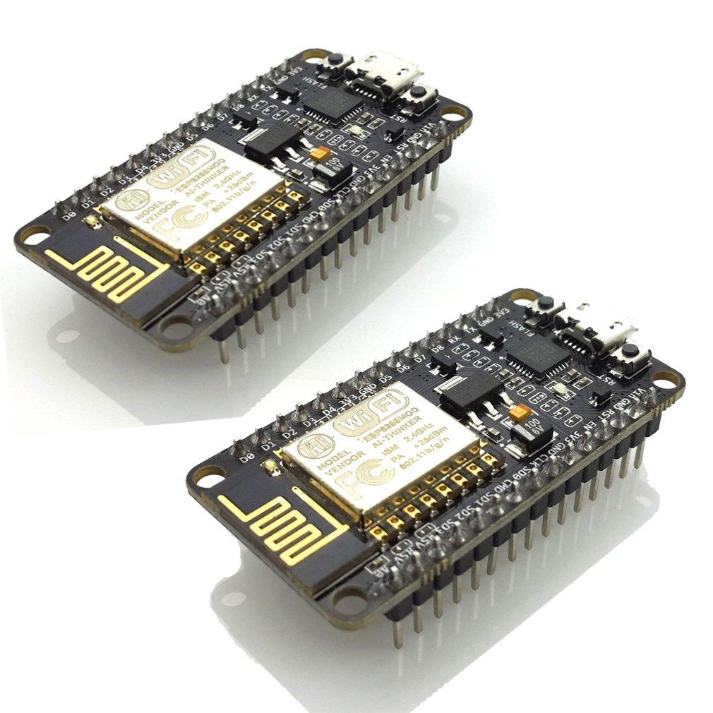 HiLetgo 2pcs ESP8266 NodeMCU LUA CP2102 ESP-12E Internet WiFi Development Board Open Source Serial Wireless Module Works Great with Arduino IDE/Micropython (Pack of 2PCS) by HiLetgo