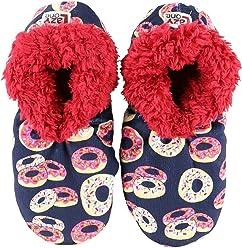 01591cff741a Donut Disturb Womens Plush Fuzzy Feet Slippers by LazyOne