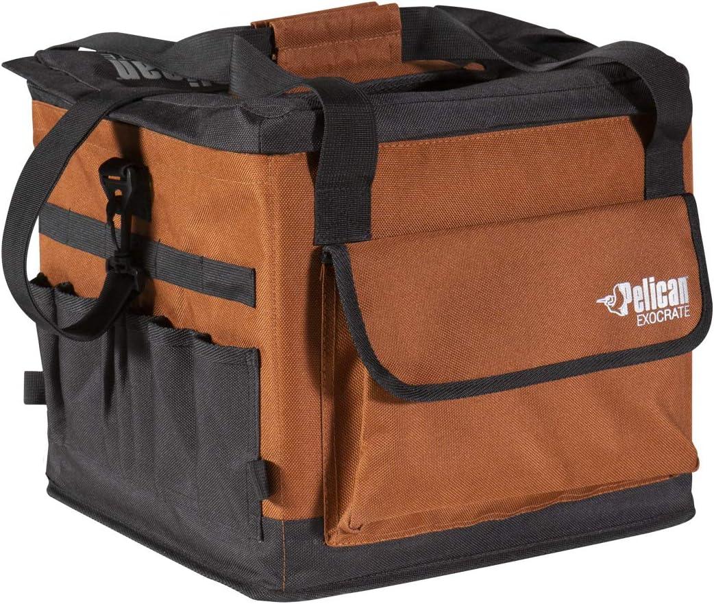 Pelican Exocrate Fishing Bag - Premium - Kayak Tackle Storage Solution - Kayak Crate Soft Bags - PS1953, Terra; Black, 15.2 x 14 x 12.5 inches