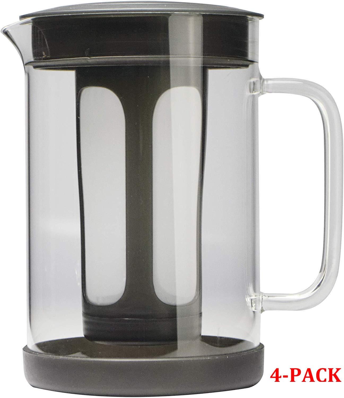 Primula PCBBK-5351 51 oz Black Pace Cold Brew Iced Coffee Maker 51 oz, 4-Pack