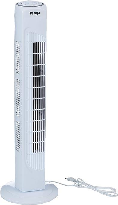 Venga 45 W Ventilatore a torre oscillante a 3 velocit/à 80 cm VG VT 3001 Bianco