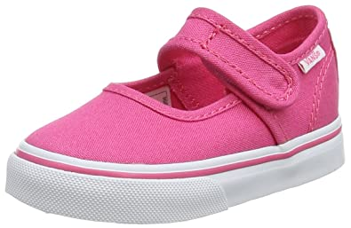 Vans Unisex Baby Mary Jane Sneaker, Pink (Hot Pink/True White 80a), 24 EU