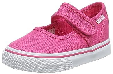Vans Unisex Baby Mary Jane Sneaker, Pink (Hot Pink/True White 80a), 19 EU