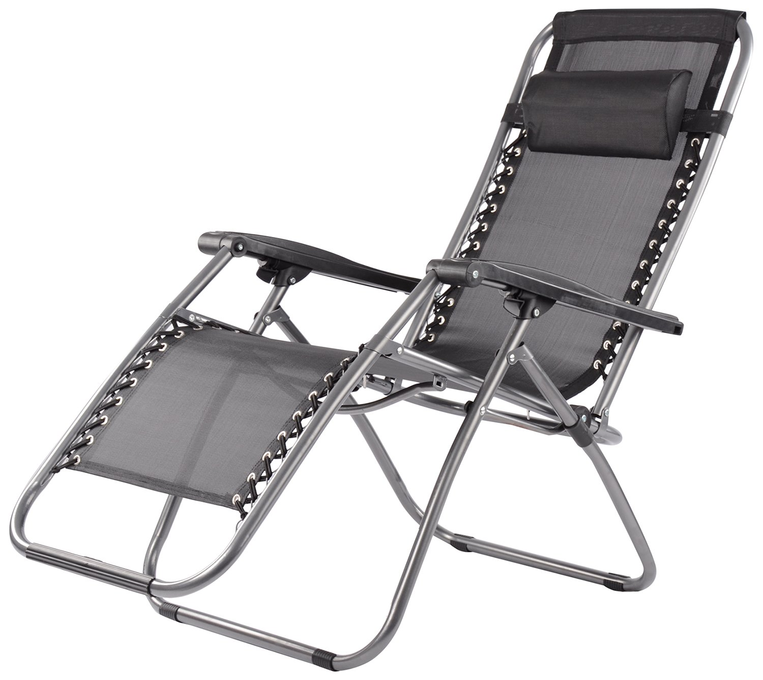 Elite Zero Gravity Relax Recliner Folding Chair (Black): Amazon.in: Home U0026  Kitchen