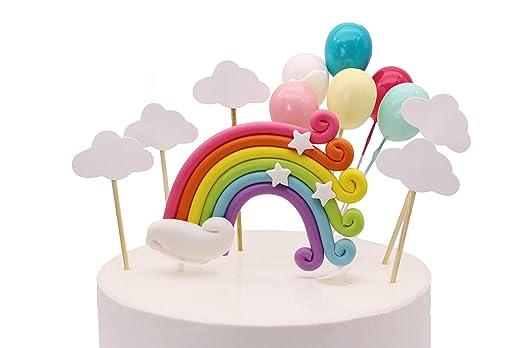 Colorido arco iris para decoración de tartas de cumpleaños ...