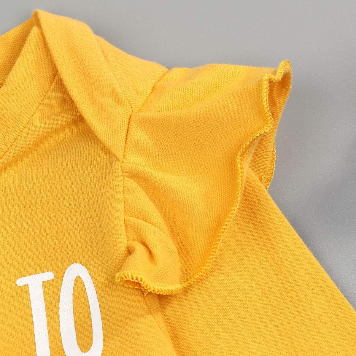 itkidboy Toddler Newborn Baby Girl Shirt Big Sister T-Shirt /& Baby Sister Romper Tops
