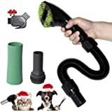 Gforest Pet Vacuum Grooming Brush Nozzle Attachment Tool Kit Great for Dogs and Cats