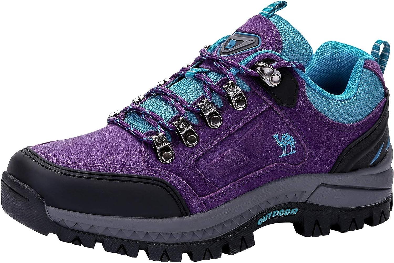 CAMEL CROWN Zapatos de Senderismo para Mujer Zapatillas de Escalada Calzado de Ante para Alpinismo, Zapatos de Excursionismo para Actividades al Aire ...