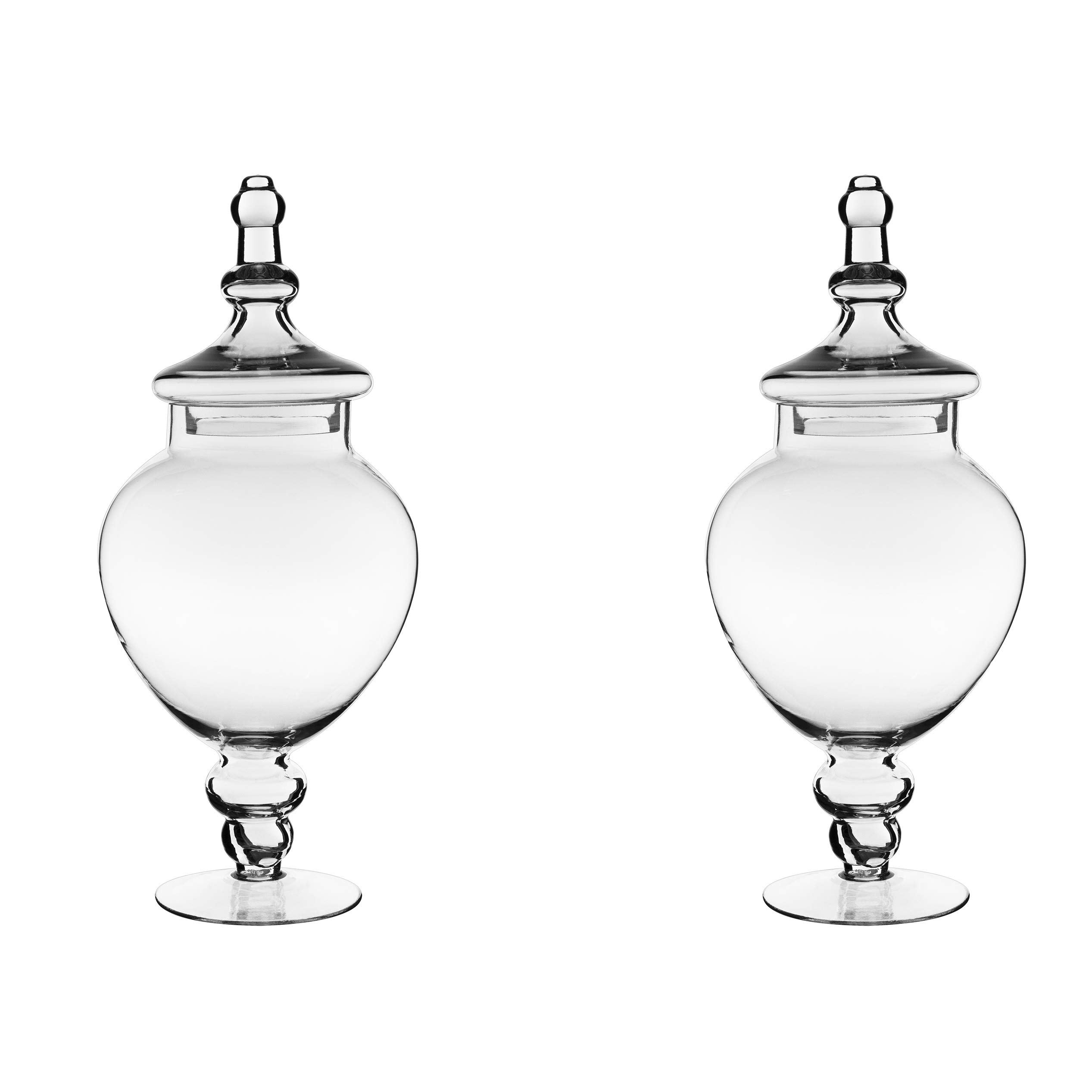 CYS EXCEL Apothecary Jars Pack of 2, Candy Buffet Display, Elegant Storage Jars, Wedding Candy Canisters -Series (1) by CYS EXCEL