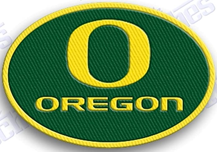 Oregon ducks embroidered patch.