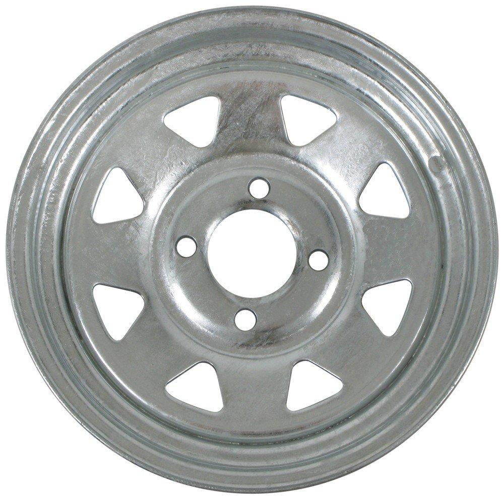 eCustomRim Trailer Wheel Galvanized Rim 13 x 4.5 Spoke Style 4 Lug On 4 Steel