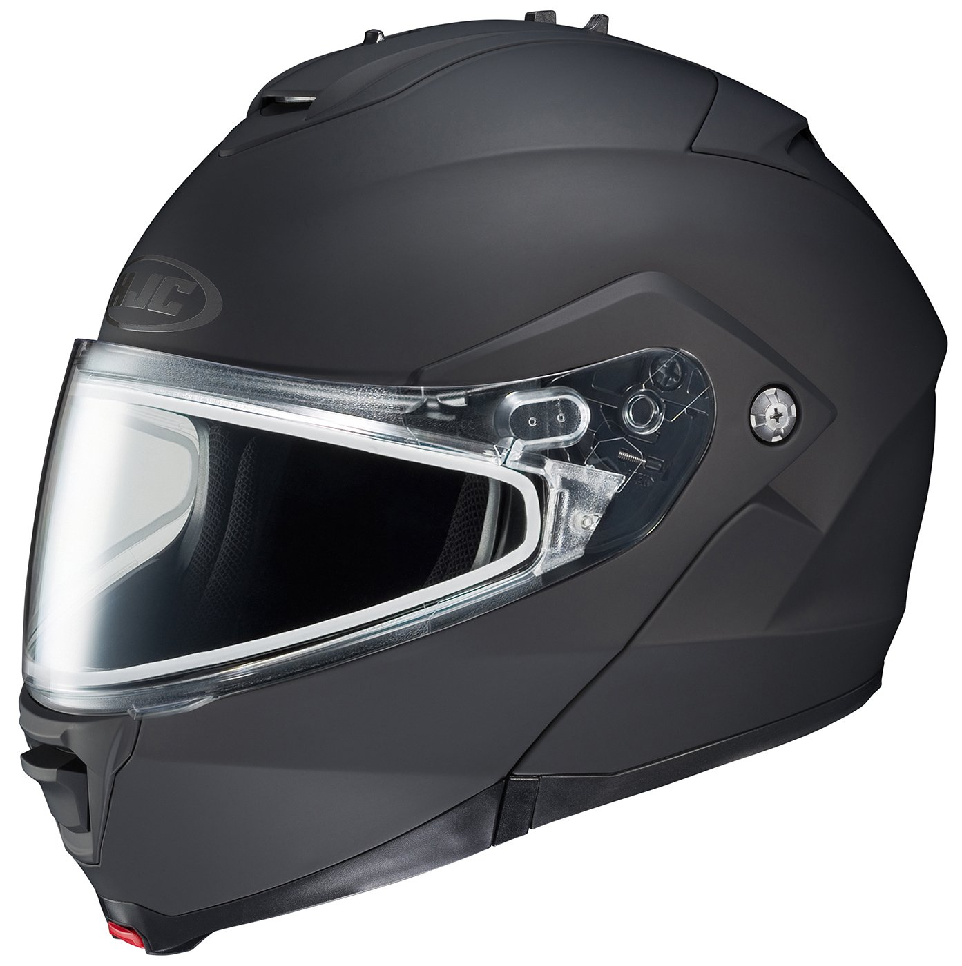 HJC IS-MAX2SN Modular Snow Helmet Frameless Dual Lens Shield (Matte Black, Small)