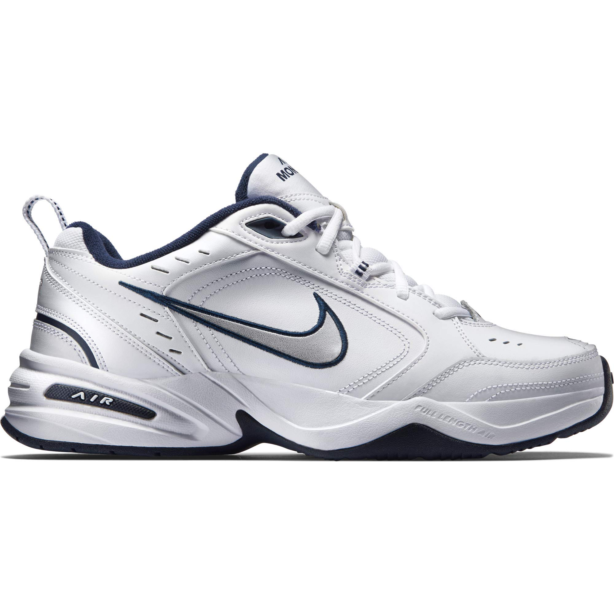 NIKE AIR MONARCH IV (MENS) - 6.5 White/Metallic Silver by Nike (Image #8)