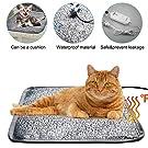 Pet Heating Pad, Shine-U Dog Cat Waterproof Electric Blanket Warmer Mat with Anti Bite Tube 110V