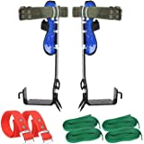 TWSOUL Tree Climbing Gear, 304 Stainless Steel Tree Climbing Tool, Pole Climbing Spikes Adjustable Climbing Tree Shoes Non-Sl