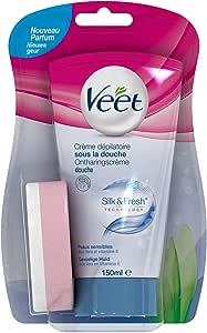 Veet In-shower Hair Removal Cream, Sensitive Skin, 150g