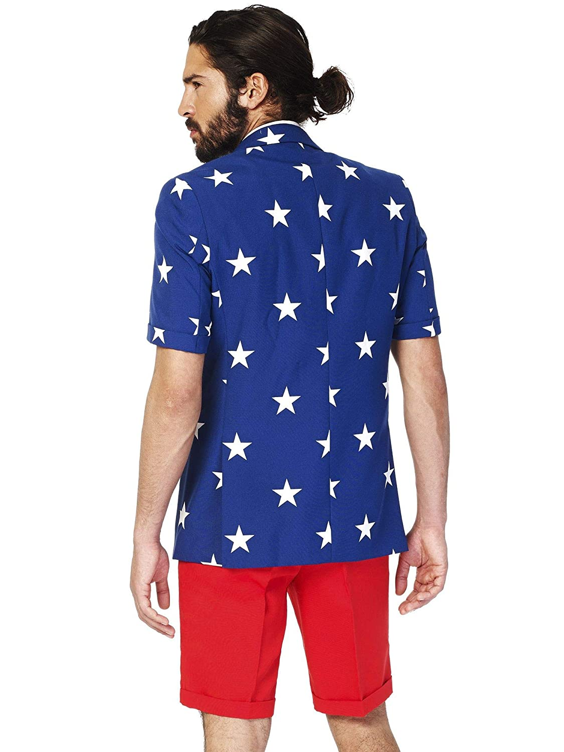 a28052aa35da OppoSuits American Flag Suit for Men - USA Outfit for The 4th of July with  Red White and Blue Jacket
